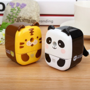 VANKER Panda Tiger Cartoon Pencil Cutter Hand Manual Rotating Pencil Sharpener For Office Classroom Random