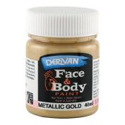 Derivan Face & Body Paint 40ml Jar Gold