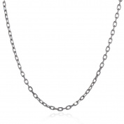 Hermah 3mm Mens Womens Rolo Style Stainless Steel Necklace Chain Jewellery 22inch