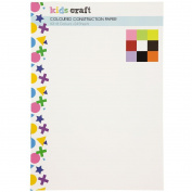 Kids' Art & Craft Coloured Construction Paper A3 24 Sheets