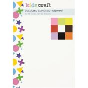 Kids' Art & Craft Coloured Construction Paper A4 32 Sheets
