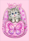 DIY 5D Diamond Painting by Number Kits, Full Drill Crystal Rhinestone Diamond Embroidery Paintings Pictures Arts Craft for Home Wall Decor, Pink cat