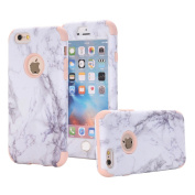 iPhone 6/ 6s Case, VPR Marble Stone Pattern Design 3 in 1 Hybrid Cover Hard PC Soft Silicone Rubber Heavy Duty Shock Absorbing Protective Defender Case for iPhone 6/ 6s (4.7inch)