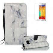 Galaxy S8 Plus Case,Funyye New Creative 3D Marble Pattern Premium PU Leather Wallet with Wrist Strap and Credit Card Holder Slots Full Protection Case Cover for Samsung Galaxy S8 Plus-Grey