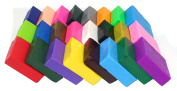 24 Largh Blocks DIY Colourful Fimo Polymer Clay Oven Baked Modelling Moulding for Kids Craft,0.5kg