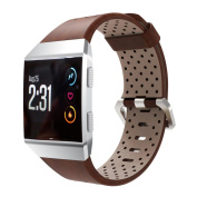 Bescita Perforated Leather Replacement Sport Band Strap For Fitbit Ionic Smart Fitness Watch