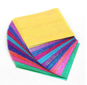 50PCS 10cm x 10cm Square Handmade Folding Iridescent Papers-Colourful Flicker Hologram Paper Double Sided Origami For Kindergarten Handmade DIY Accessories