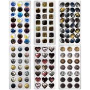 Funshowcase Rose, Heart, Dome, Diamond,Oval Shape Chocolate Mould PS Plastic 6-piece Set Bite Size