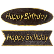 Funshowcase Happy Birthday Plaque Chocolate Mould PS Plastic 2 Shapes