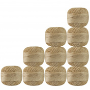 Bunch of 10 Pcs Off-White Colour Cotton Crochet Thread Cross Stitch Knitting Handicrafter Balls Yarn Tatting Doilies Skeins Lacey Craft {132}
