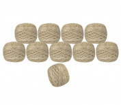 Pack of 10 Pcs Gold Metallic White Cotton Crochet Thread Cross Stitch Knitting Handicrafter Balls Yarn Tatting Doilies Skeins Lacey Craft