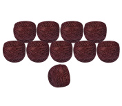 Bunch of 10 Pcs Silver Metallic Maroon Cotton Crochet Thread Cross Stitch Knitting Handicrafter Balls Yarn Tatting Doilies Skeins Lacey Craft