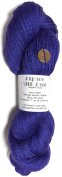 Hand Dyed Alpaca Silk Yarn, Solid Violet, Lace Weight, 100 Grammes, 875 Yards, 70/30 Baby Alpaca / Mulberry Silk