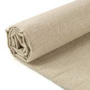 Caydo Linen Needlework Fabric, Plain Solid Colour Linen Fabric Cloth Hemp Jute Fabric Table Cloth Garments Crafts Accessories, 50cm by 160cm