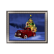 Aixia Christmas Car DIY 5D Diamond Embroidery Painting Cross Stitch Home Decor Craft