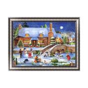 Aixia Christmas House DIY 5D Diamond Embroidery Painting Cross Stitch Home Decor Craft