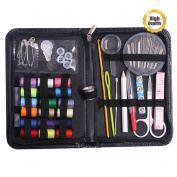 Renashed Sewing Kit with 75 Sewing Accessories, 24 Spools of Thread -24 Colour, Mini sewing kit for Beginners,Traveller, Emergency, Whole Family to Mend and Repair
