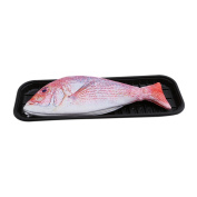UNKE Creative Fish Design Pencil Bagschool Students Stationery Box Simulation Salted Fish Pencil Case,Red