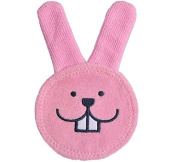 Jesica Cartoon Rabbit Oral Care Cleaning Teething Cloth for Baby - Pink