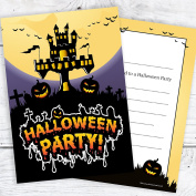 Halloween Party Invitations - Ready to Write with Envelopes