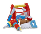 Melissa & Doug Toolbox Fill and Spill Toddler Toy With Vibrating Drill
