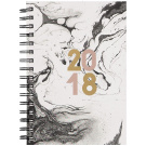 Diary 2018 Day To Page Spiral Hard Cover A5