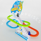GN Funny Penguin Race Twinkle Light Slide Race Frisk Paradise Toy Set With Music