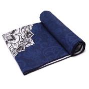 "Bonniee Yoga Towel- 24"" x 72"",100% Microfiber Printed Yoga Mat Towel for Fitness, Exercise,Sports & Outdoors + Mesh Bag"
