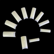 NMKL 500PCS Natural Square Half Cover False Fingernails for Nail Art Design French Acrylic Nail Tips