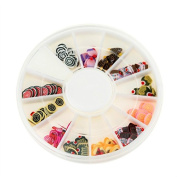 YARUIE Nail Art Wheel Fruit Slices 3D Polymer Clay Tiny Fimo Stickers Decoration 2#