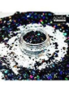 Chunky Black - GlitterWarehouse Chunky Loose Holographic Solvent Resistant Cosmetic Grade Glitter