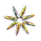 Sindy Nail Rhinestones 3D Nails Decorations Teardrop Crystals Diamonds Stones 30pcs for Acrylic Nails Colourful