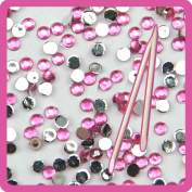 Fashion gallery 2mm light Pink Colour 20000pcs Crystal Nail Rhinestones for Nails 3D Nail Art Decoration + 2 wood Stick DIY Bead nail Tools