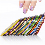 Mixed Colours Nail Rolls Striping Tape Line Decoration Sticker Nail Art Tips Fingernail Decal Tools