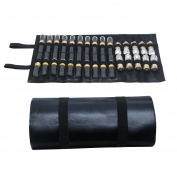 Lipstick Organiser Bag/Case,Lipstick Makeup Bag,Professional Cosmetic Bag Roller Portable Storage Bag 30 Solts Lip Gloss Display Holder with Flexible Belt