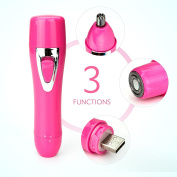 Vassoul Upgrade Women's Painless Hair Remover USB Charging Hair Shaver-Body/ Facial Shaver & Nose Trimmer 2 in 1, Safe to Use For Any Unwanted Hairs