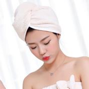 Dolland Hair Drying Towel Hair Turban Towel Twist Wrap Dry Hair Cap for Bath, Spa, Makeup
