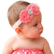 Hottest Baby Hairbands,FuzzyGreen Baby Hairbands Baby Girls Cotton Two Red Roses Crystals Diamond Hairband Photography Headband Accessory