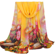 Datework Women Long Soft Wrap Shawl Chiffon Scarf