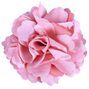 Anleolife Fabric Pink Flower Hair Clips Corsage Brooch Hairpins/Hair Barrettes For Women Headwear 6pcs/lot