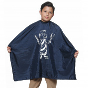 Kid's Mohawk Salon Quality Cape 70cm X 90cm Crinkle Nylon Material Light Weight Extra Snap Closures