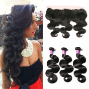 JiSheng Mink Malaysian Virgin Human Hair Bundles Deal With Closure Ear To Ear Lace Frontal Closure Cheap 8A Unprocessed Body Wave Bundles Natural Colour