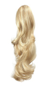 OneDor 50cm Curly Synthetic Clip In Claw Drawstring Ponytail Hair Extension Synthetic Hairpiece 190g with a jaw/claw clip