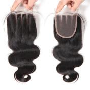 West Kiss Hair Body Wave Brazilian Human Hair 4x 4 Lace Closure 3 Part Closure