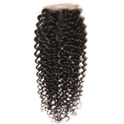 UNice Malaysian Virgin Curly Hair 4x 4 Lace Closure Free Part