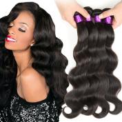 Queen Plus Brazilian Virgin Hair Body Wave 4 Bundles 100% Unprocessed Virgin Human Hair Weave Extensions Natural Colour(100+/-5g)/pc