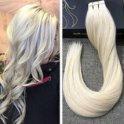 Ugeat Tape in Blonde Highlighted Hair Extensions 36cm 20pcs 50g Real Remy Hair Extensions Human Hair Tape Ahdesive