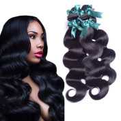 Morningsilkwig 3 Bundles Brazilian Virgin Hair Body Wave Remy Human Hair 300g Weaves Unprocessed Hair Extensions Natural Colour 12 14 41cm