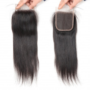 West Kiss Hair Straight Brazilian Virgin Human Hair Free Part 4x 4 Lace Closure No Bleached Knots