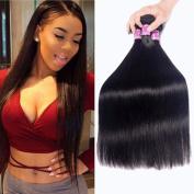 Burhair Brazilian Virgin Hair Straight Hair 3 Bundles Unprocessed Human Hair Weave Extension Natural Colour 10 12 36cm